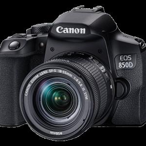 Canon EOS 850D (Rebel T8i) Digital SLR Camera Body w/Canon EF-S 18-135mm f/4-5.6 is STM Lens