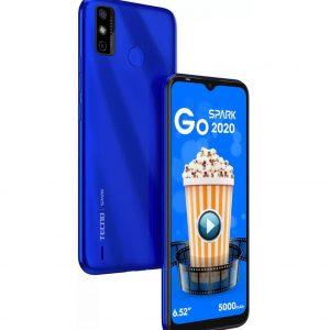 "Tecno Spark GO 2020, 6.52""-5000MAh-32GB/2GB-Dual SIM-Aqua Blue"