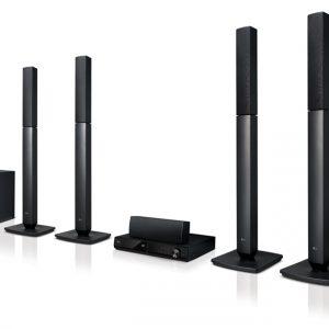 G LHD457 Home Theatre - 5.1 Channel, 330W, Tall Boy, Bluetooth
